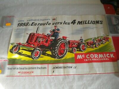 vintage sales poster McCormick international tractors 1958 sodico S.A 59 x 39 cm
