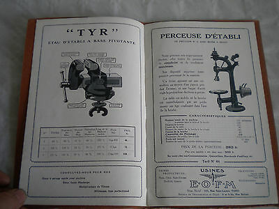 Vintage Catalogue 1920s Usine E.O.F.M metal workshop machines tools vices