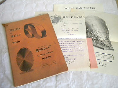 Vintage Catalogue 1911 Roffo Cie Saws And Woodworking