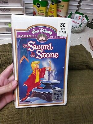 Disney NEW The Sword and the Stone VHS, original packaging. Clamshell case