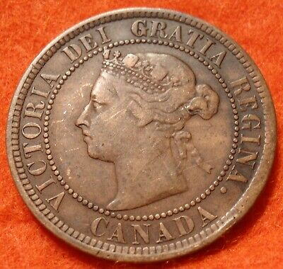 1887 Fine High Grade CANADA LARGE CENT Victoria COIN CANADIAN