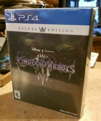PS4 Kingdom Hearts III 3 Deluxe Edition BRAND NEW SEALED Disney Square Cnix MINT