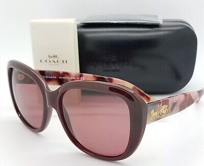 0e55bb34e7 New Coach sunglasses HC8207 550975 57mm Oxblood Solid 8207 GENUINE square  round