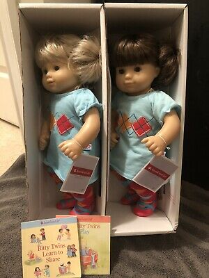 American Girl Bitty Twins Soldier Pajamas Outfit With Book and Toy NIB