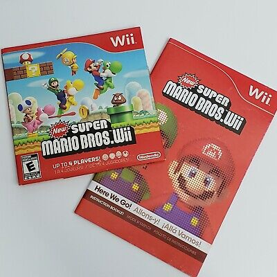 New Super Mario Bros Wii - Nintendo Wii - DISC & MANUAL Tested - Excellent cond.