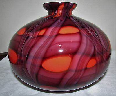 Bohemian/Czech Kralik Art Glass Deco Era Ball Vase