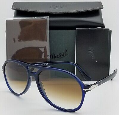 aefc028b0a23 NEW PERSOL sunglasses PO3194S 107451 59mm Blue Brown Gradient Aviator  AUTHENTIC
