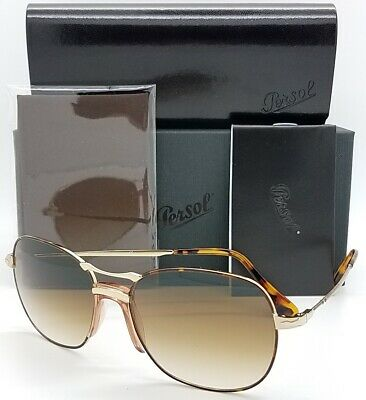 2b9c271ba35b NEW PERSOL sunglasses PO2449S 107551 Gold Brown Gradient 2449 Aviator  AUTHENTIC