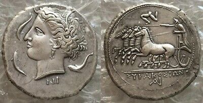 Ancient Greek Sicily Syracuse Hieron I Tetradrachm Coin