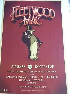 Fleetwood Mac 50 Years Don't Stop Original  Promotional Poster New Unused