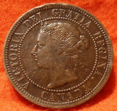 1891  High Grade CANADA LARGE CENT Victoria COIN CANADIAN