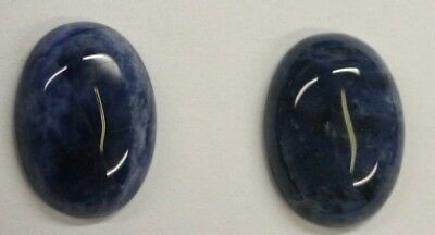 Lot of 6 Sodalite Oval Calibrated Cabochon High Quality 10x12 up to 13x18 Gems