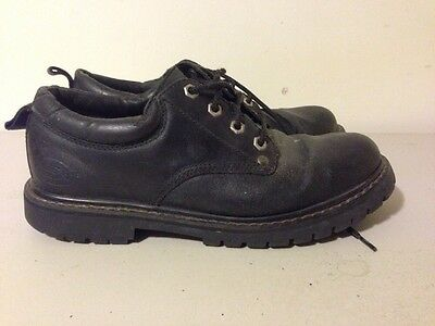 Details about Men's Skechers Leather Upper Balance Shoes Size 8 SN 7111 Dark Brown