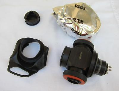 MSA APR Gas Mask Respirator Adapter Assembly w/ Filter for Ultra Elite