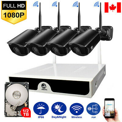 HD 1080P Outdoor Wireless CCTV Home Security Camera System WiFi NVR IR-CUT 1TB