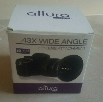 Altura 0.43X wide angle HD lens attachment for Canon