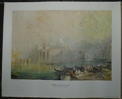 "Vintage Art Print JMW Turner's ""The Grand Canal Venice"" from the Hyde Collection"