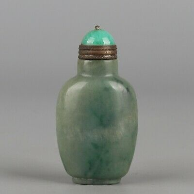 Chinese Exquisite Hand carved jade snuff bottle