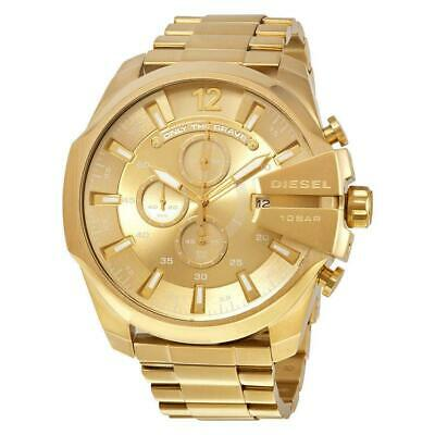 NEW Diesei DZ4360 Men's Chronograph Mega Chief  Watch Gold Tone Stainless Steel