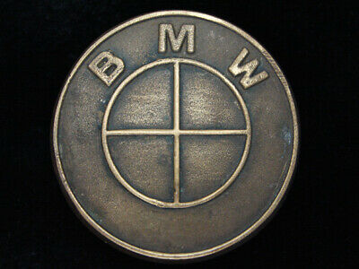 QH03159 VINTAGE 1970s **BMW** CAR COMPANY SOLID BRASS BARON BELT BUCKLE