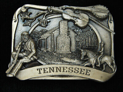 Ql03124 *Nos* Vintage 1984 **Tennessee** State Commemorative Siskiyou Buckle