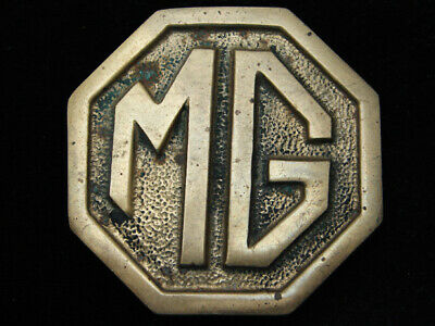 RD03141 VINTAGE 1970s **MG** CAR COMPANY LOGO SOLID BRASS BARON BELT BUCKLE