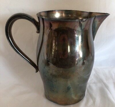 Vintage WM ROGERS PAUL REVERE REPRODUCTION Silverplate Water Pitcher