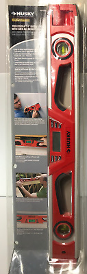 Husky Digital Laser Level 24 in. Line Generator Angle Memory Storage Easy Read