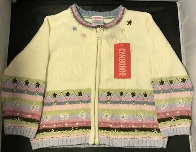 Gymboree sweater girls 12-18 M embroidered Winter 1 NWT