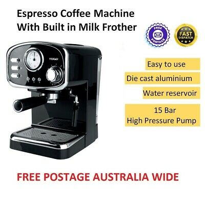 Coffee Espresso Machine Built in Milk Forther Drip Tray with Tamper