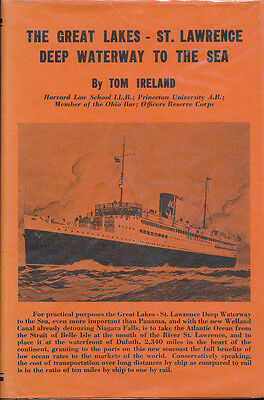 Great Lakes St Lawrence Deep Waterway to the Sea Vtg Tom Ireland History Vtg !!
