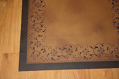 Beautiful primitive, 2'x3' floorcloth area rug. Can't beat the price!!!!