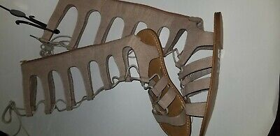 5106f9990b743 WOMENS KNEE HIGH gladiator sandals Charlotte Russe size 8 - $3.50 ...