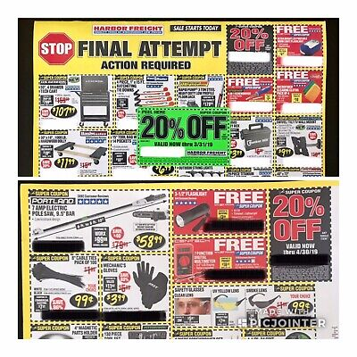 Harbor Freight 20 Off Plus More Discount Coupon Expire April 2019