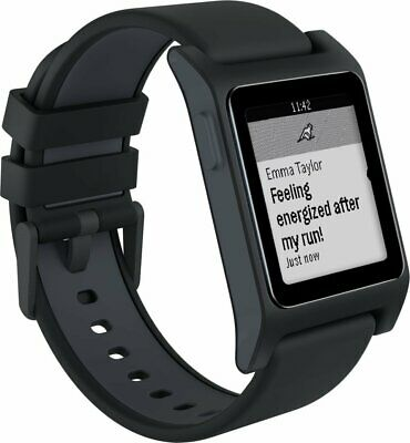 Pebble 2 HR Fitness Tracker Bluetooth Smartwatch for Android or iOS - Black  ...