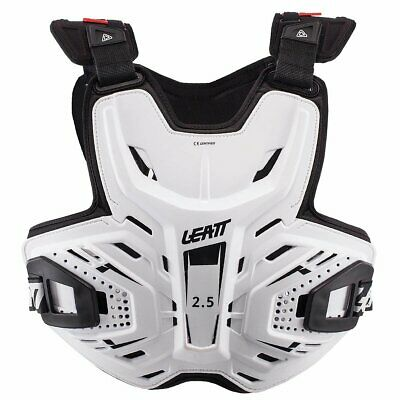 Leatt Mx And Enduro 2.5 Mens Body Armour Chest Protection - White One Size