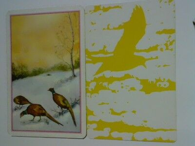2 Single Swap/Playing Cards - Assorted Birds Yellow