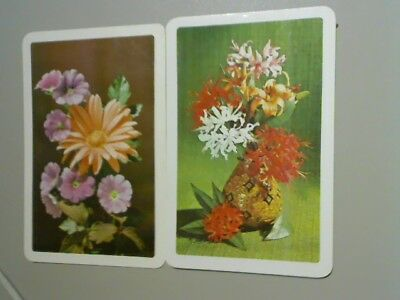 2 Single Swap/Playing Cards - Assorted Flowers