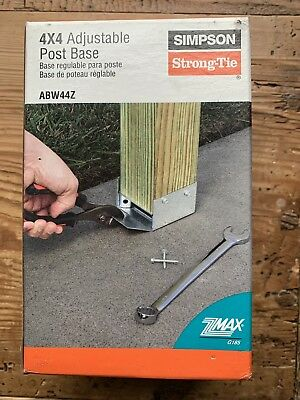 Simpson Strong Tie ABZ44Z - 4x4 Adjustable post base