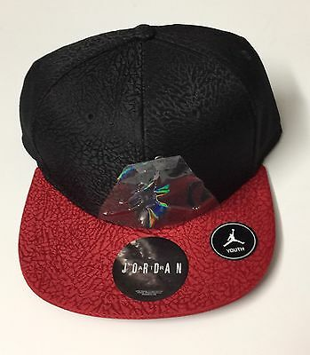 separation shoes 3fb09 1d928 New Youth Jordan Nike Hat Pink Black 9A1623-V12 Cap Jumpman Snapback
