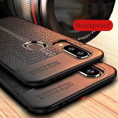 For Xiaomi Redmi Note 7 6 5 Pro Shockproof Rubber Soft TPU Leather Case Cover