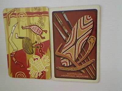 "2 Swap/Playing Cards - ""Australian Aboriginal Weapons""#"