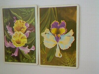 2 Swap/Playing Cards - Flowers Yellow and Purple#