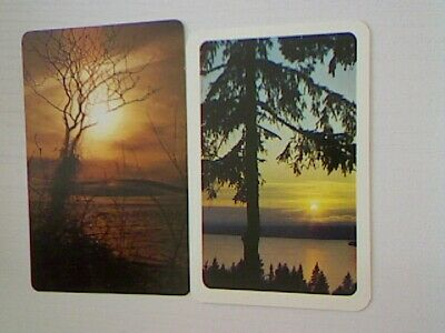 2 Swap/Playing Cards - Sunset Scene#