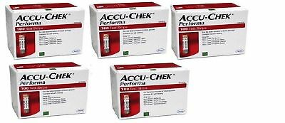 Accu-Chek Performa Glucose Blood Test Strips (5 Boxes x 100 Each) Free Shipping