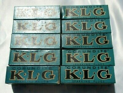 Ten  Unused Vintage  Corundite K.l.g Sparking Plugs Ten-50 10M/m