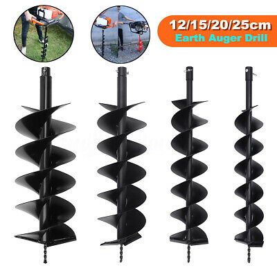 Dual Blade Auger Bit Drill Planting Earth Petrol Post Hole Digger 12/15/20/25cm