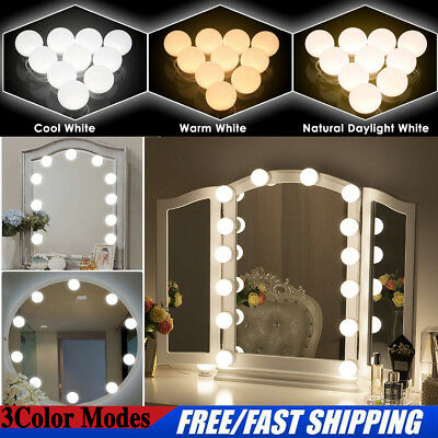 AU Hollywood Vanity Mirror Led Lights Kit 10 Dimmable Makeup Dressing Table Bulb