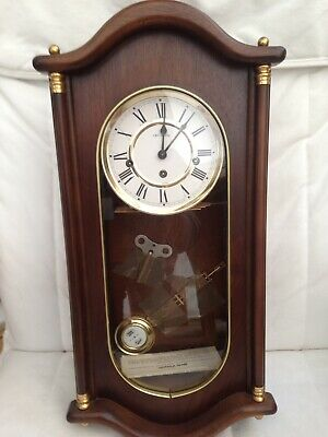 W.Widdop  Chime Wall Clock Beautiful Condition