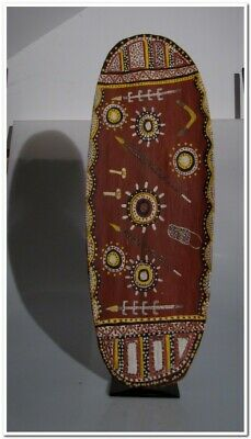Aboriginal painting PORT KEATS BARK PAINTING BILLY PARMBULS CEREMONIAL
